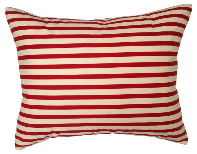 French Striped Circus Ticking Pillow
