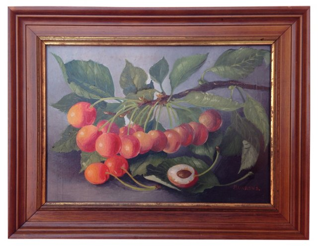 English Still Life w/ Cherry Branch