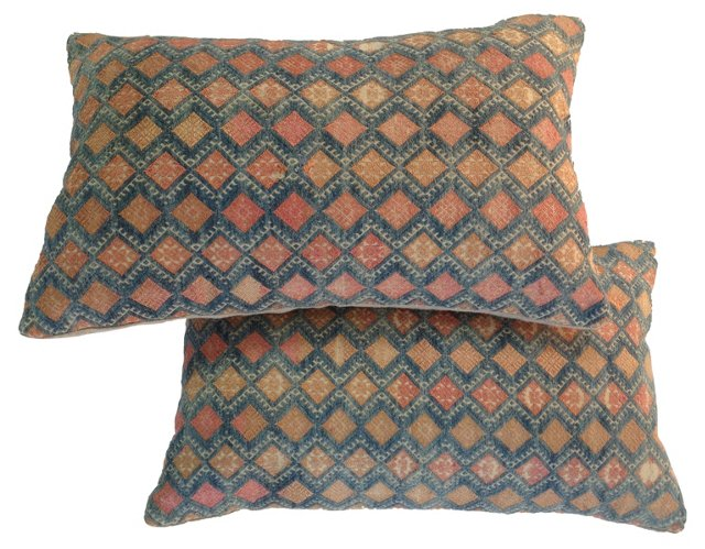 Hmong Embroidered Pillows, Pair