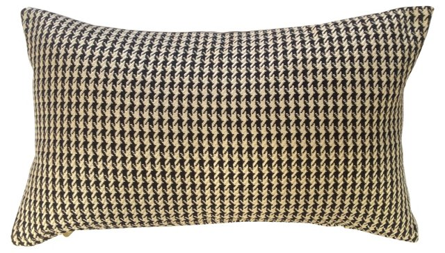 Woven     Houndstooth Pillow