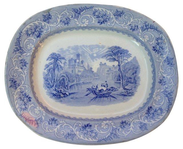 Blue & White Wall Platter