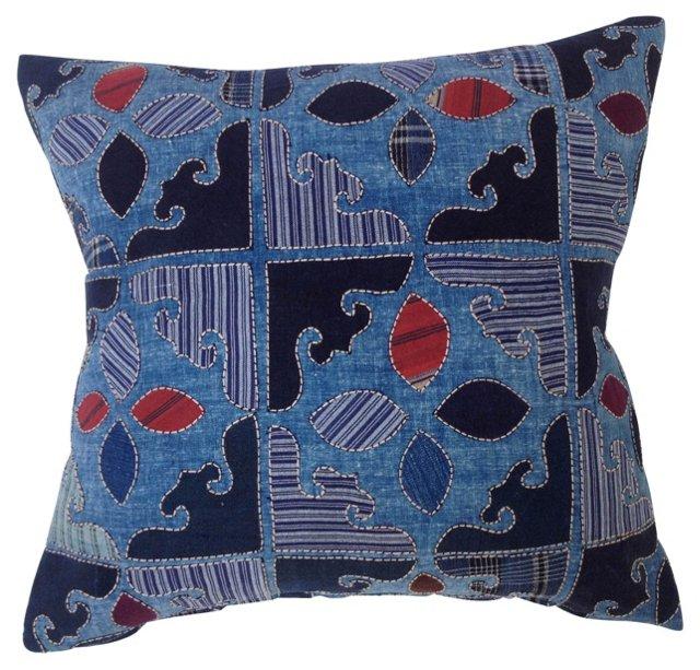 Pillow w/ Antique Indigo    Fragments