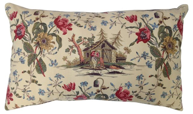 French Country Floral Pillow