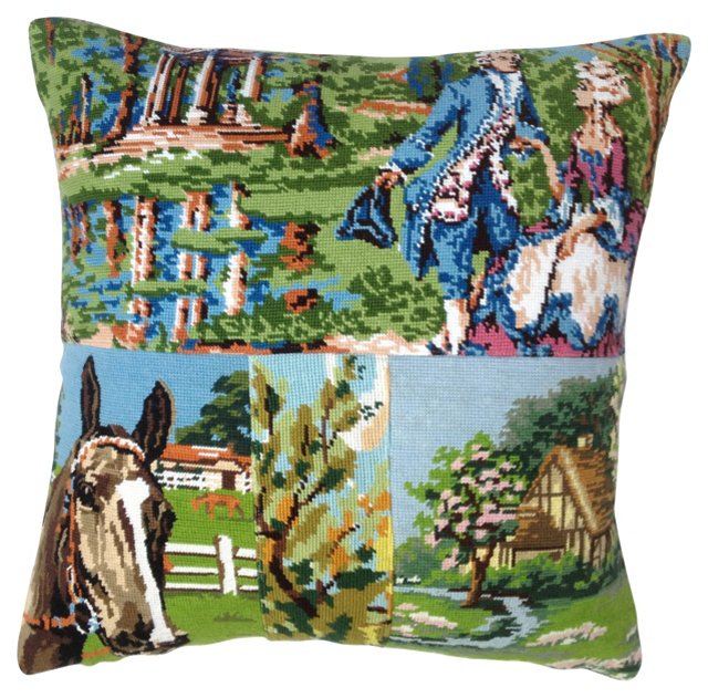 Marie Antoinette Needlepoint Pillow