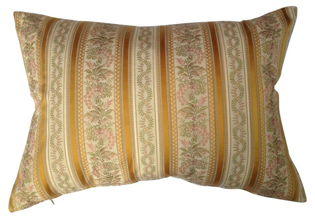 French Scalamandré Embroidered  Pillow