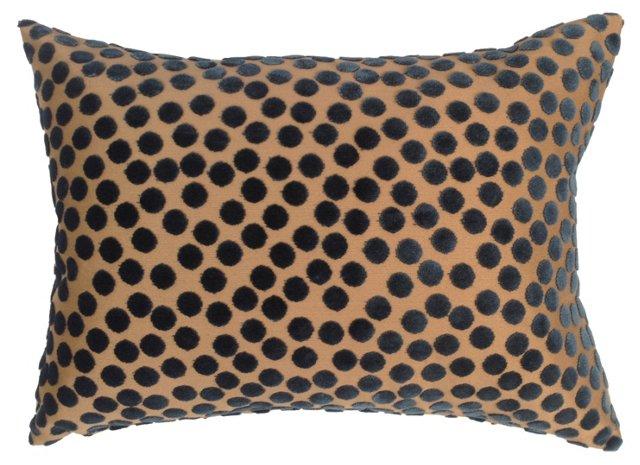 Pierre Frey Burnout Velvet Dot Pillow