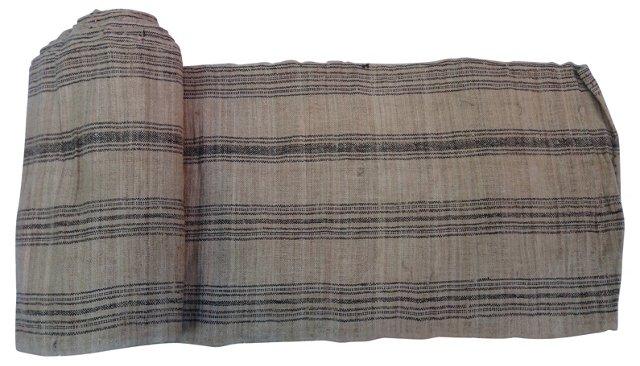 Homespun Cinnamon Striped Linen, 11 Yds