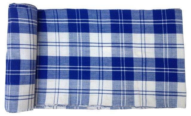 Homespun Plaid Textile, 13.5 Yds