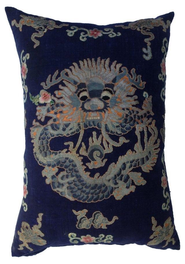 Kimono Dragon Fragment   Pillow