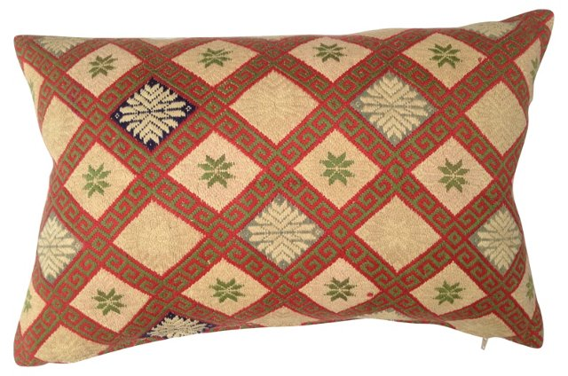 Silk Quilt Tribal Pillow