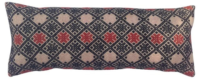 Hand-Embroidered Hmong Quilt Pillow