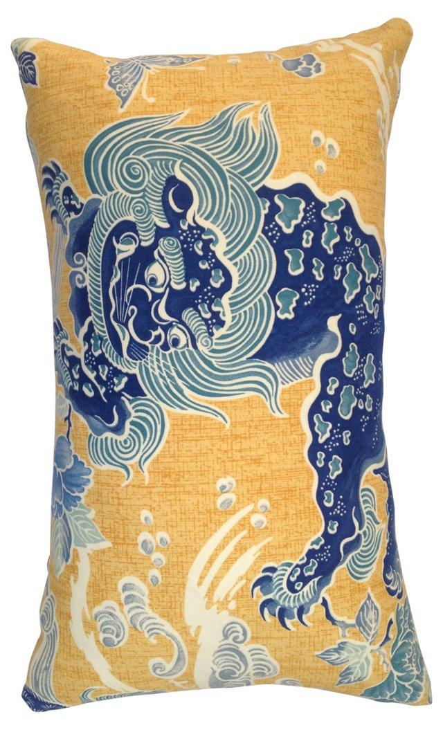 Shishi Dragon Chinoiserie Pillow