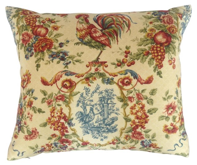 French Country  Chickens  Pillow