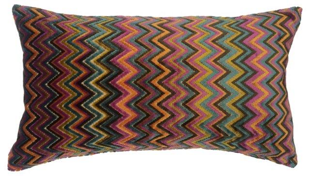 Velvet   Zigzag   Pillow