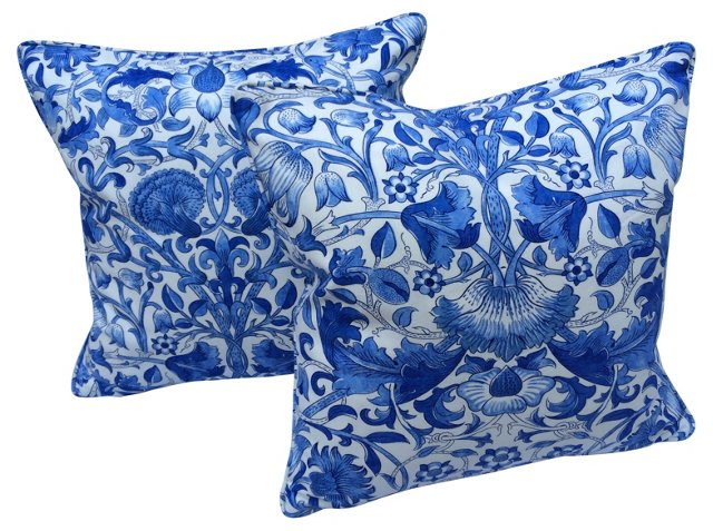 William Morris Lodden Pillows, Pair
