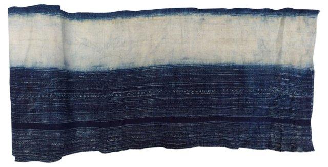 Indigo Batik Textile, 2.75 Yds