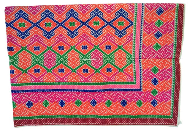 Hmong  Marriage  Tribal  Quilt