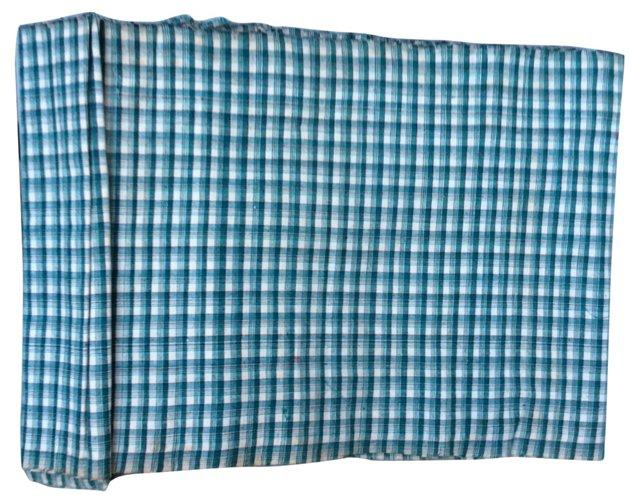 Homespun Plaid Textile, 8 Yds