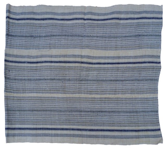 Home-Spun   Indigo-Striped   Panel