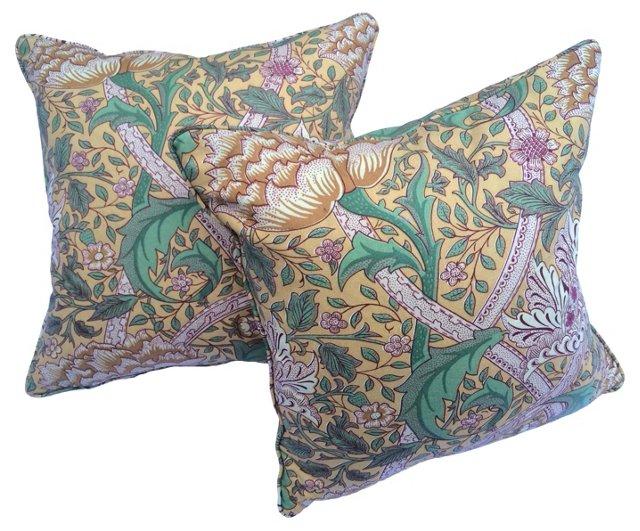 William Morris Floral Pillows,   Pair