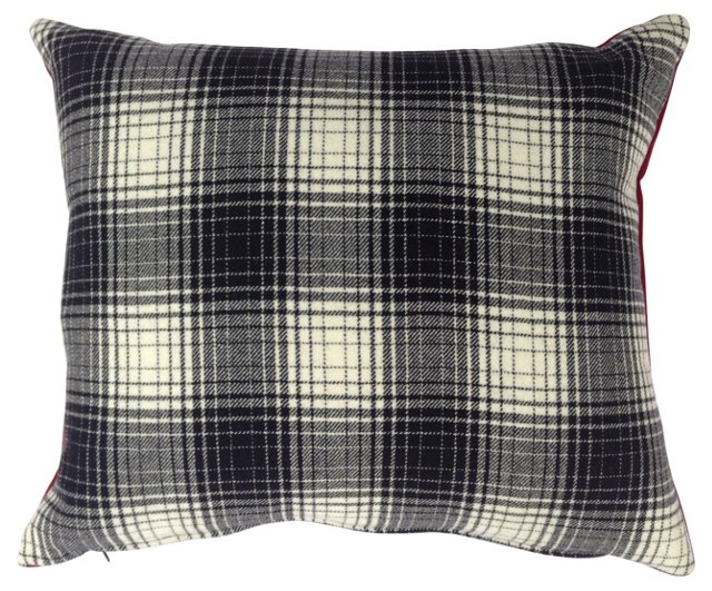 Cashmere & Wool Plaid Pillow