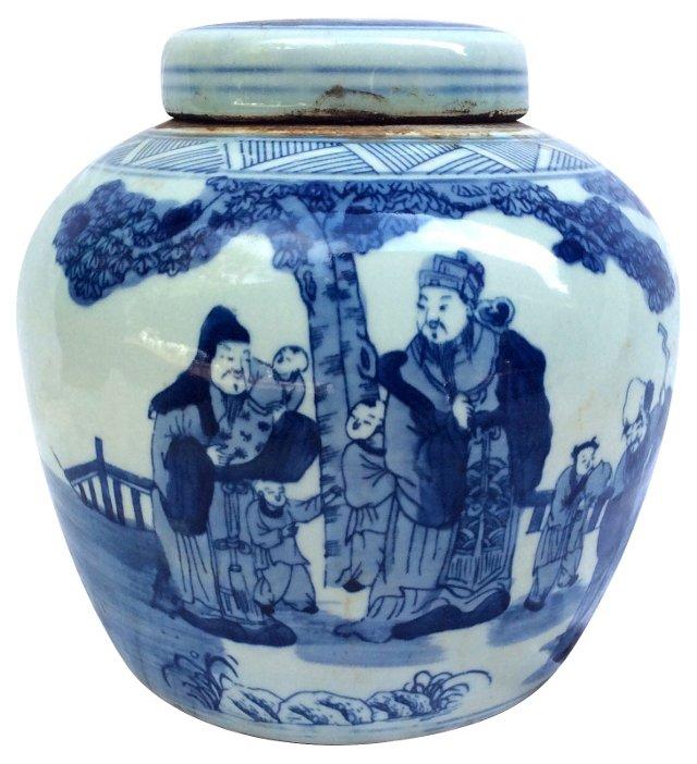 Chinese Lidded  Ginger Jar