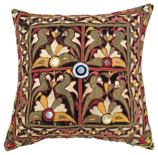 Indian Mirrored Shisha Floor Pillow