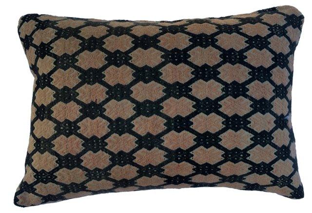 Hmong Marriage Quilt Lattice Pillow
