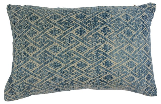 Blue & White Marriage  Quilt   Pillow