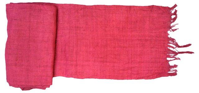 Homespun Raspberry Linen, 8 Yds