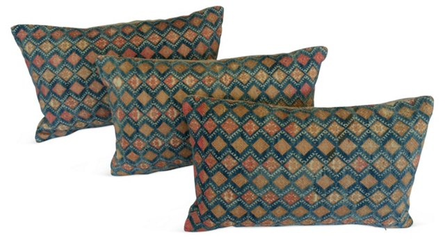 Tribal Marrige Quilt Pillows, S/3