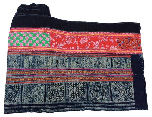 Hmong Tribal Skirt Textile, 5.8 Yds