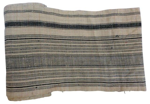 Striped Homespun Linen, 9.5 yds