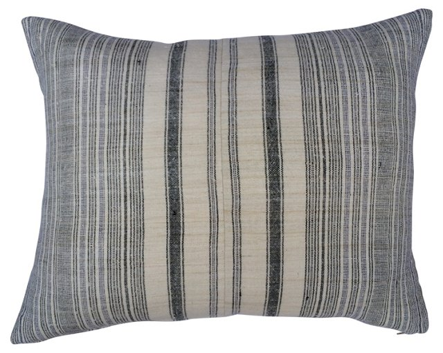 Homespun Striped   Linen   Pillow
