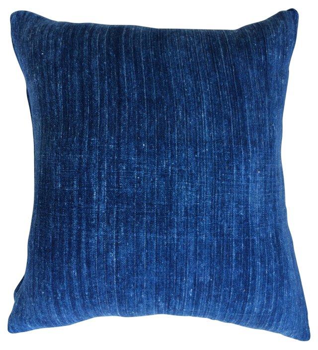 Pillow w/ Antique Tribal Indigo Textile