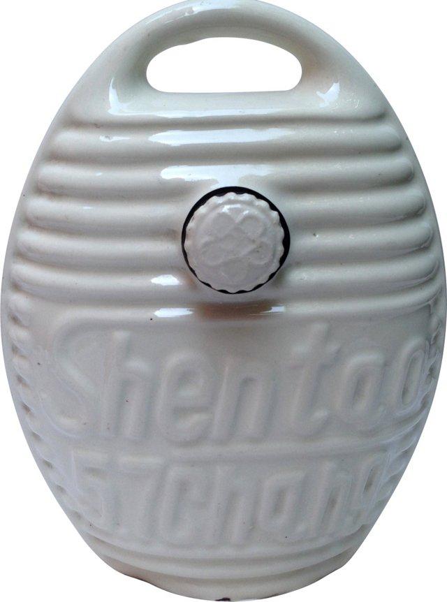 Stoneware Ribbed Bottle w/ Stopper