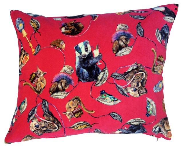 House of Hackney Pink Velvet   Pillow