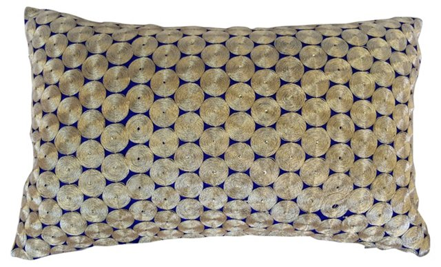 Gold   Embroidered Boudoir Pillow