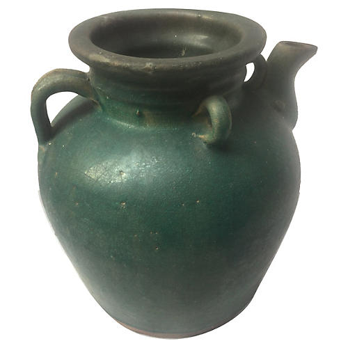 Matte Green Water Jug