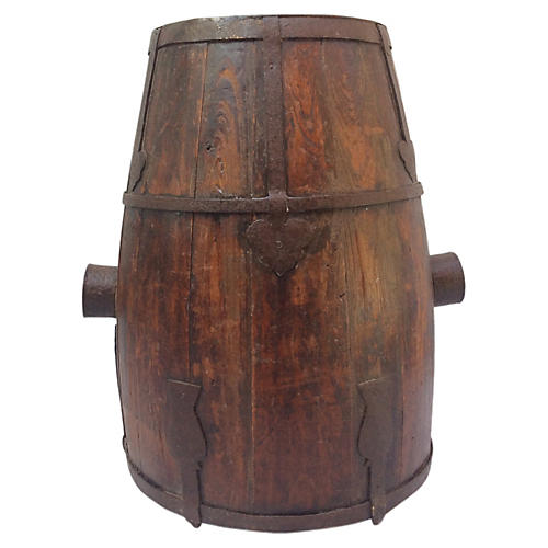 Rustic Wood Farm Pail