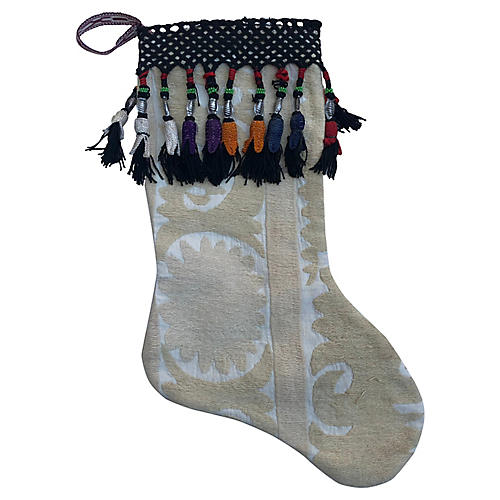 Suzani Christmas Stocking Turkish Fringe