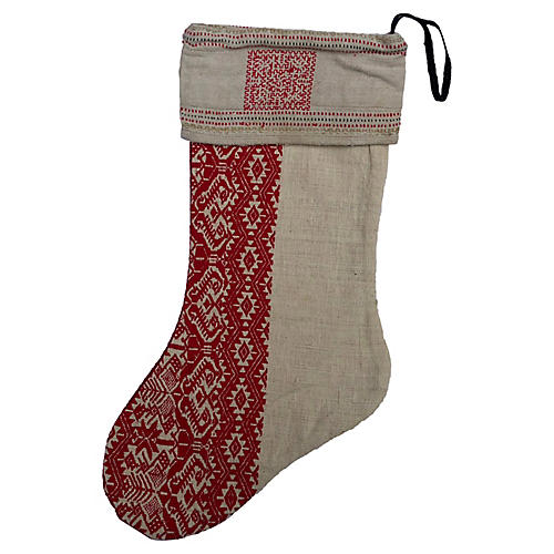 Antique Grainsack Christmas Stocking