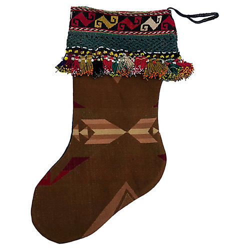 Xmas Stocking Vintage Pendleton Blanket
