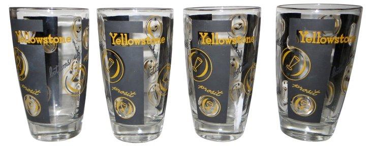 Yellowstone Bar Glasses, S/4
