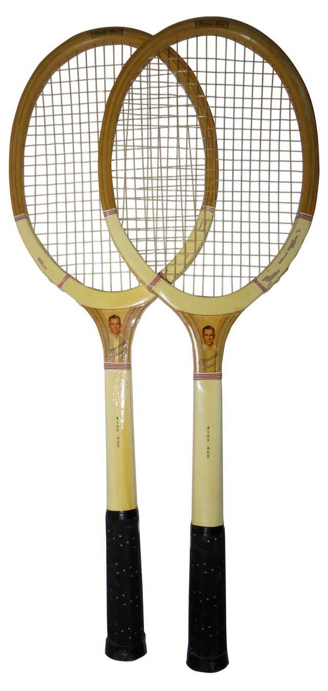 Ellsworth Vines Tennis Racquets, Pair