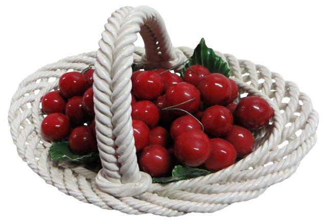 Capodimonte Italian Basket w/ Cherries