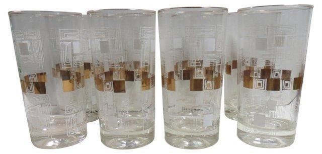 Geometric Glasses, Set of 8