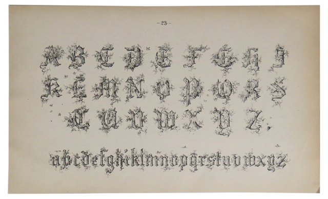 Typography Page, Alphabet