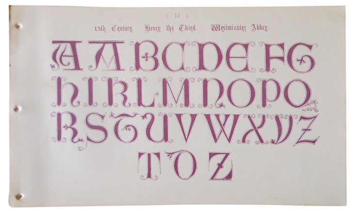 13th-C. Typography Sheet
