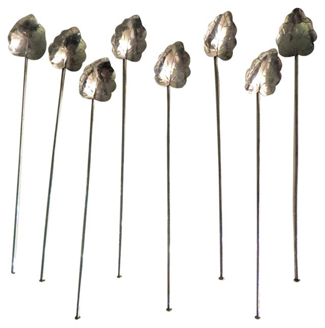 Sterling Iced-Tea Spoons,  S/8